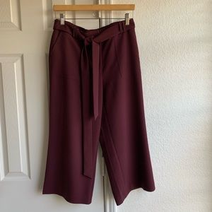 BURGUNDY CROPPED/GAUCHO PANTS